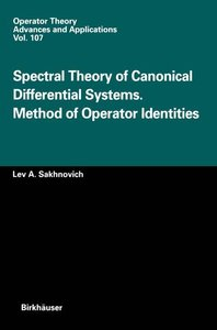Spectral Theory of Canonical Differential Systems. Method of Ope