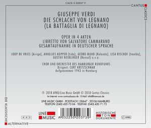 Die Schlacht Von Legnano/La Battaglia Di Legnano