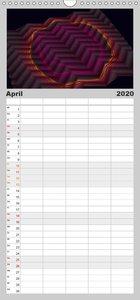 fraktal fatal no. 2 - Familienplaner hoch (Wandkalender 2020 , 2
