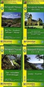 Naturpark Nassau Blatt 1 - 4 Wanderkarten Set 1 : 25 000