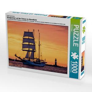 Ein Motiv aus dem Kalender Windjammer auf der Ostsee im Abendlic