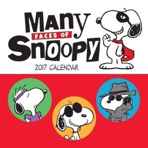 Many Faces of Snoopy 2017 Mini Wall Calendar