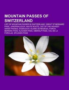 Mountain passes of Switzerland