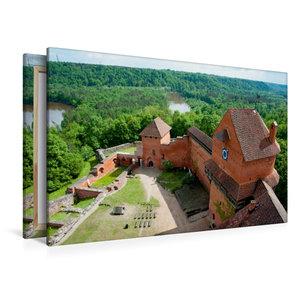 Premium Textil-Leinwand 120 cm x 80 cm quer Burg Turaida