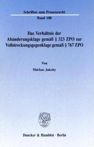 Das Verhältnis der Abänderungsklage gemäß § 323 ZPO zur Vollstre