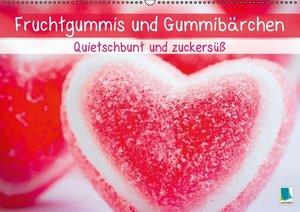 Fruchtgummis und Gummibärchen: Quietschbunt und zuckersüß (Wandk