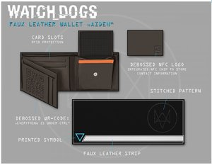 Watch Dogs - Portmonnaie / Geldbörse (NFC) - Hacker