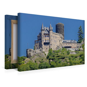 Premium Textil-Leinwand 45 cm x 30 cm quer Burg Katz - Sankt Goa