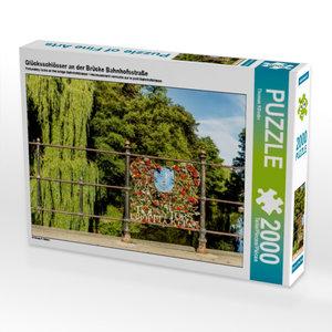 Glücksschlösser an der Brücke Bahnhofsstraße 2000 Teile Puzzle q