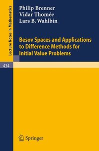 Besov Spaces and Applications to Difference Methods for Initial