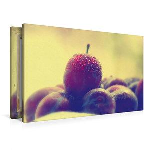 Premium Textil-Leinwand 90 cm x 60 cm quer Frisches Obst Stillle