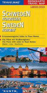 KUNTH Reisekarte Schweden/Norwegen 1 : 800 000