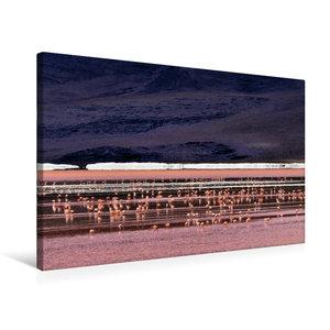 Premium Textil-Leinwand 75 cm x 50 cm quer Laguna colorada