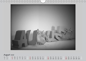 Kleine Kalender-Kreaturen (Wandkalender 2019 DIN A4 quer)