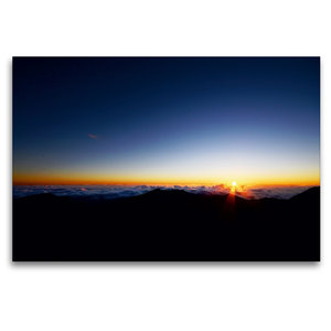 Premium Textil-Leinwand 120 cm x 80 cm quer Haleakala Sunrise