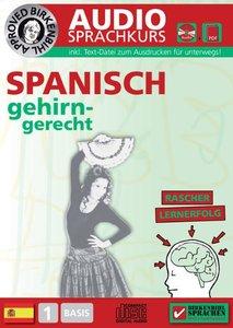 Spanisch gehirn-gerecht, 1 Basis, Audio-Sprachkurs, Audio-CD