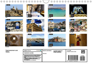 Impressionen aus Malta (Wandkalender 2019 DIN A4 quer)