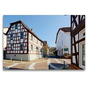 Premium Textil-Leinwand 120 cm x 80 cm quer Mühlstraße