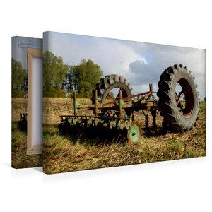 Premium Textil-Leinwand 45 cm x 30 cm quer Alte Egge und Trecker