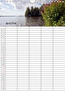 FINNLAND Traumhafte Landschaften / Familienplaner (Wandkalender
