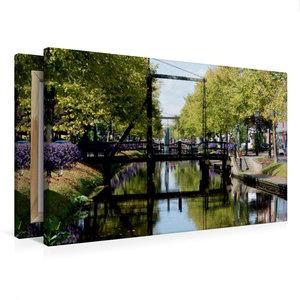 Premium Textil-Leinwand 75 cm x 50 cm quer Am Hauptkanal