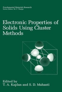 Electronic Properties of Solids Using Cluster Methods