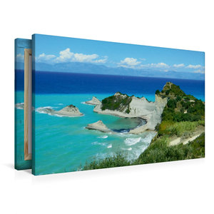 Premium Textil-Leinwand 90 cm x 60 cm quer Kap Drastis, Korfu