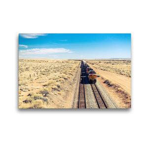 Premium Textil-Leinwand 45 cm x 30 cm quer Pacific Railroad