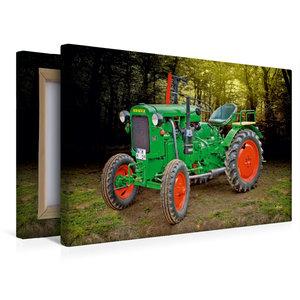 Premium Textil-Leinwand 45 cm x 30 cm quer Oldtimer Traktor Deut