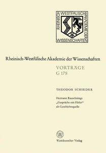 """Hermann Rauschnings """"Gespräche mit Hitler"""" als Geschichtsquelle"""