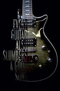 Premium Textil-Leinwand 60 cm x 90 cm hoch Elektrische Gitarre m