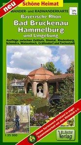 Rhön, Bad Brückenau, Hammelburg, und Umgebung 1 : 35 000 Radwand