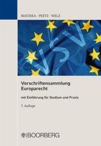 Vorschriftensammlung Europarecht