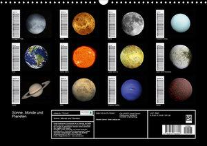 Sonne, Monde und Planeten (Wandkalender 2020 DIN A3 quer)
