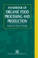 Handbook of Organic Food Processing and Production - zum Schließen ins Bild klicken