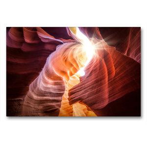 Premium Textil-Leinwand 90 cm x 60 cm quer lower antelope canyon