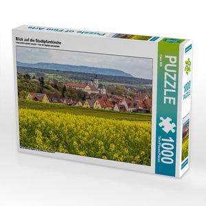 Blick auf die Stadtpfarrkirche 1000 Teile Puzzle quer
