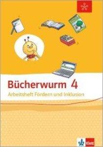 Bücherwurm Sprachbuch. Arbeitsheft Fördern und Inklusion 4. Schu
