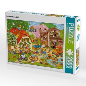 Im Osterhasendorf 2000 Teile Puzzle quer