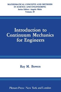 Introduction to Continuum Mechanics for Engineers