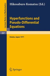 Hyperfunctions and Pseudo-Differential Equations