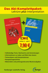 Lenz - Abi-Komplettpaket: Lektüre plus Interpretation: Königs Er