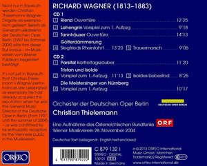 Rienzi,Lohengrin,Tannhäuser,Parsifal,Tristan,Meist