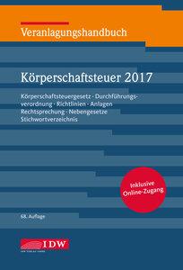 Veranlagungshandbuch Körperschaftsteuer 2017