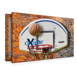 Premium Textil-Leinwand 90 cm x 60 cm quer Basketball - so cool