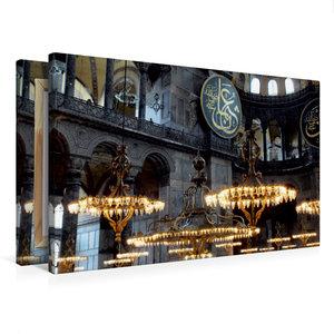 Premium Textil-Leinwand 75 cm x 50 cm quer Haggia Sophia