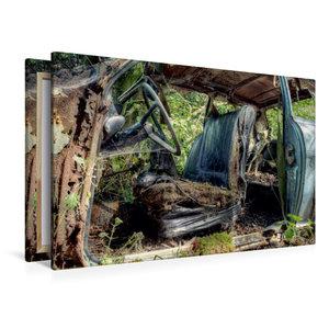 Premium Textil-Leinwand 120 cm x 80 cm quer Rostlaube - Opel Kad