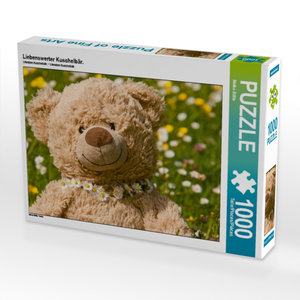 Liebenswerter Kuschelbär. 1000 Teile Puzzle quer