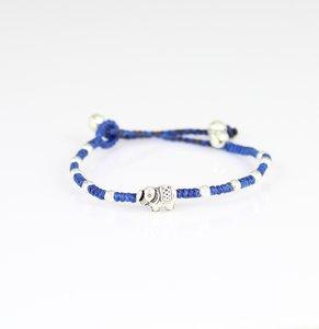 Glück Armband blau