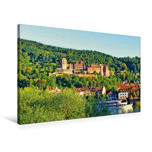 Premium Textil-Leinwand 90 cm x 60 cm quer Schloss Heidelberg